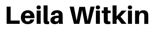 Leila Witkin Logo